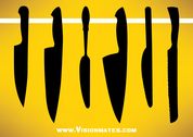 Kitchen Knife Vector Sets