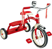 red radio flyer tricycle PSD