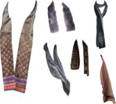 LV and Gucci Scarves Collection PSD