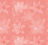 Pink lily seamless background