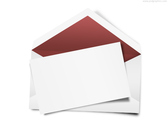 Envelope with blank note (PSD)