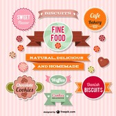 Vector sweets collection graphics
