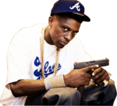 Lil Boosie with a gun PSD
