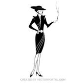 ELEGANT LADY VECTOR ILLUSTRATION.eps