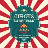 Circus carrousel free poster