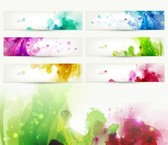 Abstract colorful header vector set