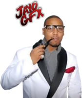 Juelz Santana in White Suit PSD