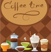 Coffee Time Banner Templates Vector Set
