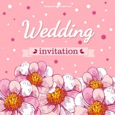 Wedding card flowers cherry blossoms