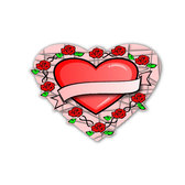 HEART AND ROSES VECTOR.ai