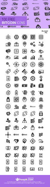 100 Bitcoin Vector Pack