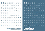 100 free icons PSD + AI + Webfont EXCLUSIVE
