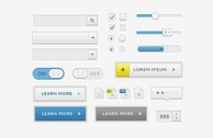 Smooth Clean UI Elements Kit PSD