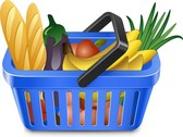 Fruits And Vegetables And Shopping Basket 05