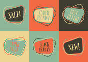 Retro Sale Label Vectors