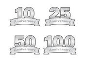 Silver Anniversary Vector Labels