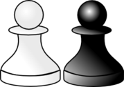 Black And White Pawns