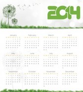 Calendar 2014 Fully Editable Text and