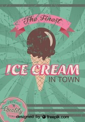 Retro Ice Cream Poster Design Finest Quality