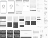 Android wektor Wireframing Toolkit