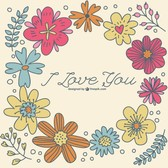 Hand-drawn floral template