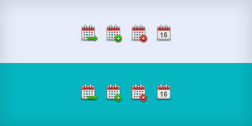 Calendario piccole icone (PSD & PNG)
