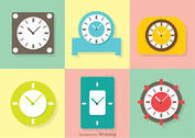 Pastel Clock Vector Pack