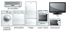 Vector Graphic Commonly Used Household Electrical Appliances