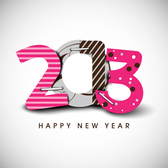 Free New 2013 year greeting card vector-3