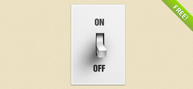 Free PSD Switch Button