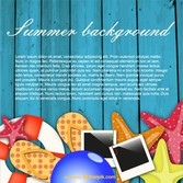 Summer background fun concept