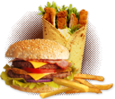 Burger Fries Wrap PSD