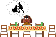Turkey, Scared Turkey...Happy Thanksgiving
