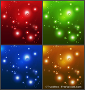 Set of Sparkle Background