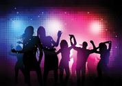 Disco Party People Vector Background (Free)