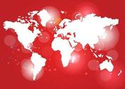 Red World Map