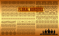 20 Vector Floral Borders