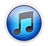 Glossy Blue Round iTunes Icon PSD