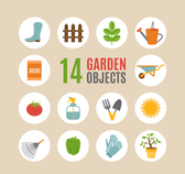 Fourteen paragraph gardening tools icon