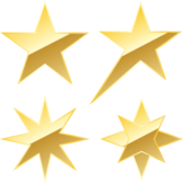 VECTOR Star in gold PSD