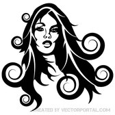GIRL WITH CURLY HAIR VECTOR.eps