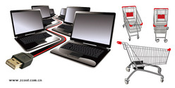 Laptop computers and shopping cart