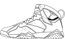 Air Jordan Retro 7 Drawling PSD