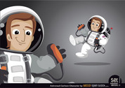 Astronaut Cartoon Character