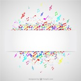 Colorful notes music