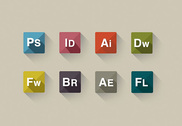 8 Elegant Adobe Program Icons Set PSD