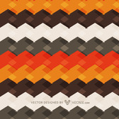 Geometric Abstract Colorful Retro Cubic Striped Texture