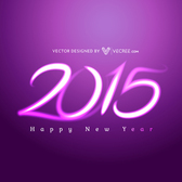 Creative Purple Light 2015 Typography