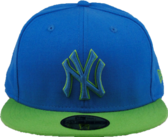 Air Force Blue and Lime Green NY Hat PSD