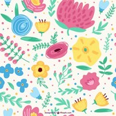 Seamless floral spring background